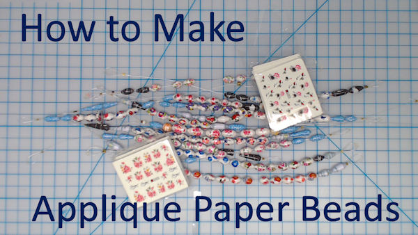 How to Make Applique Paper Beads