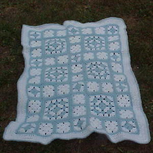 Will's Puff Stitch Granny Square Afghan