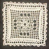 Lacet Filet Square Doily