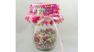 Beaded Jar Topper