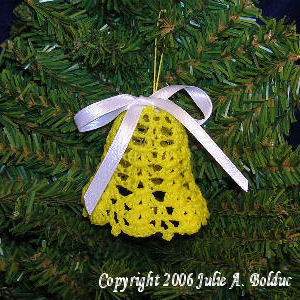 Shell Stitch Bell Ornament