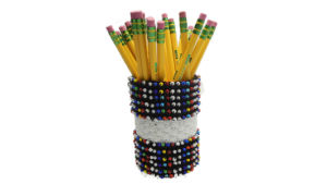 Beads and Shells Pencil Cup