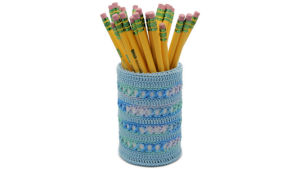 Lacy X Stitches Pencil Cup