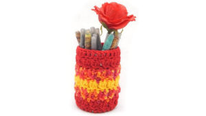 Checker Stitch Pencil Cup