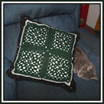 Two by Two Granny Square Pillow