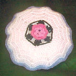 Round Rose Pillow
