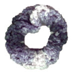 Shaded Blue Scrunchie