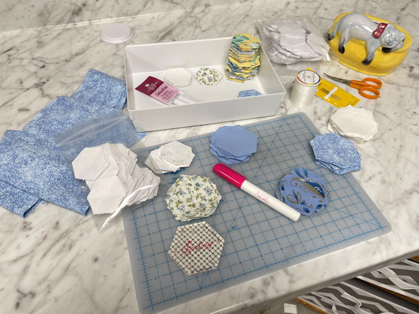 EPP Pieces for future Sewing Box