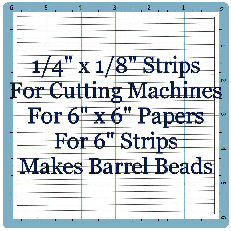 "Machine Template 1/4"" x 1/8"" x 6"""