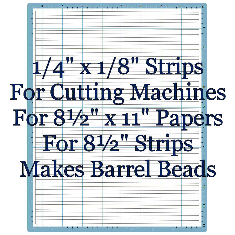 "Machine Template 1/4"" x 1/8"" x 8½"""